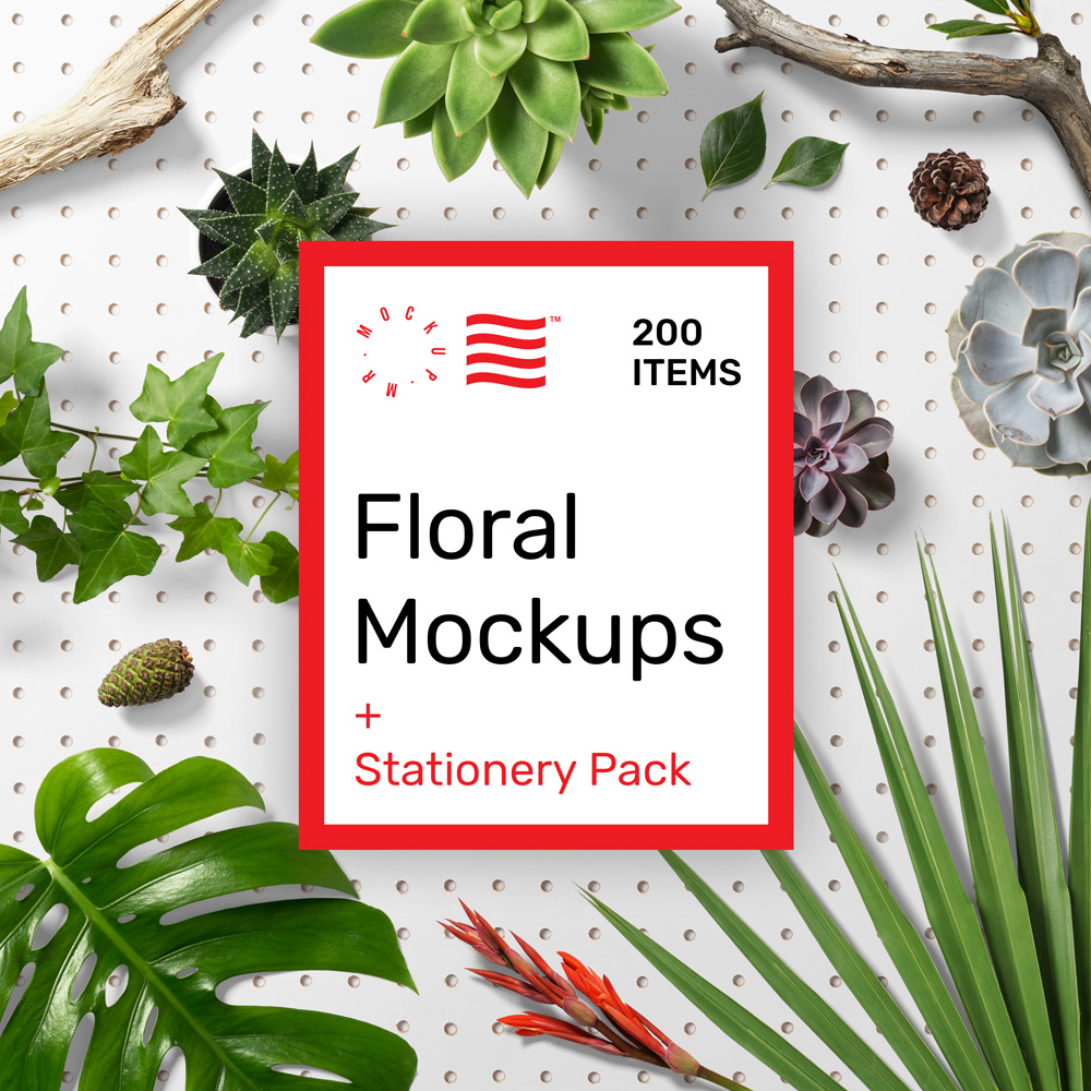 Floral Mockups PSD MrMockup