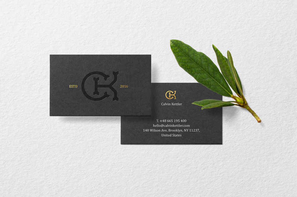 Floral Mockups Business Card Psd