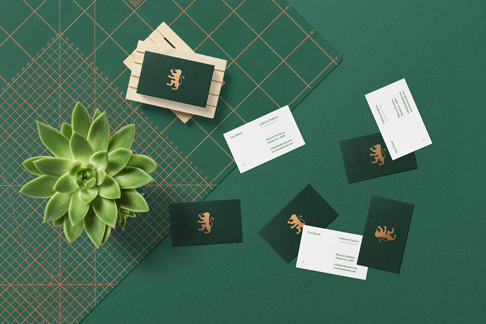 Floral Mockups Business Cards Psd