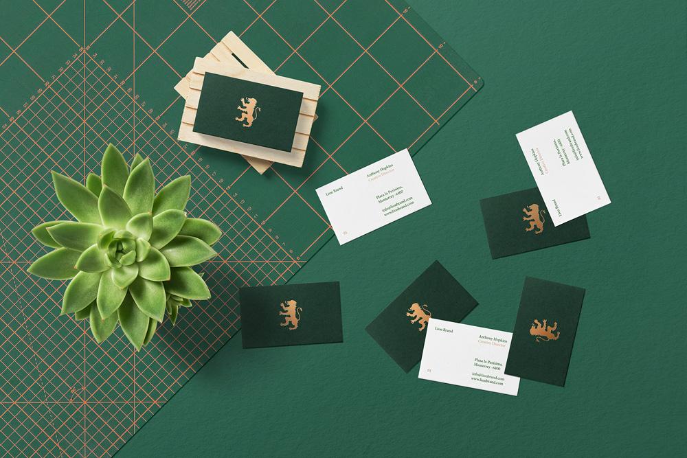 Floral Mockups Business Cards Psd