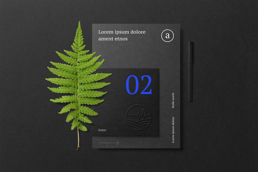 Floral Mockups Folder Psd