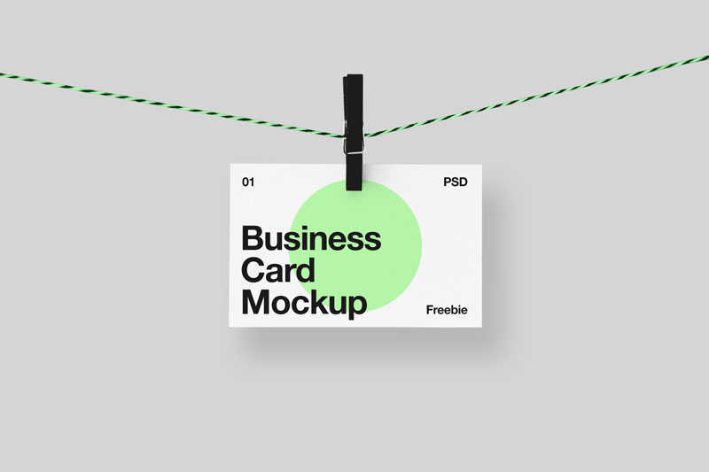 Hanging Business Card Mock