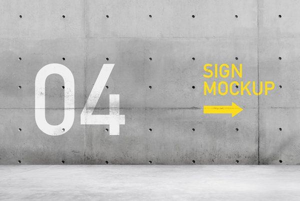 Wall Sign Mockup
