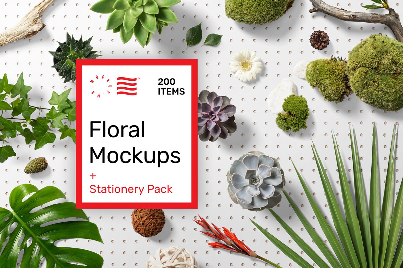 floral mockups