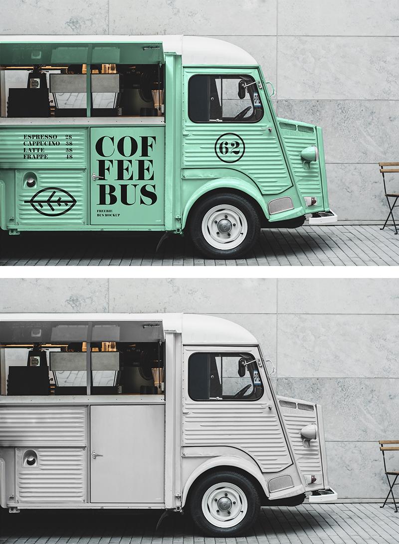 Citroen Food Truck Mockup