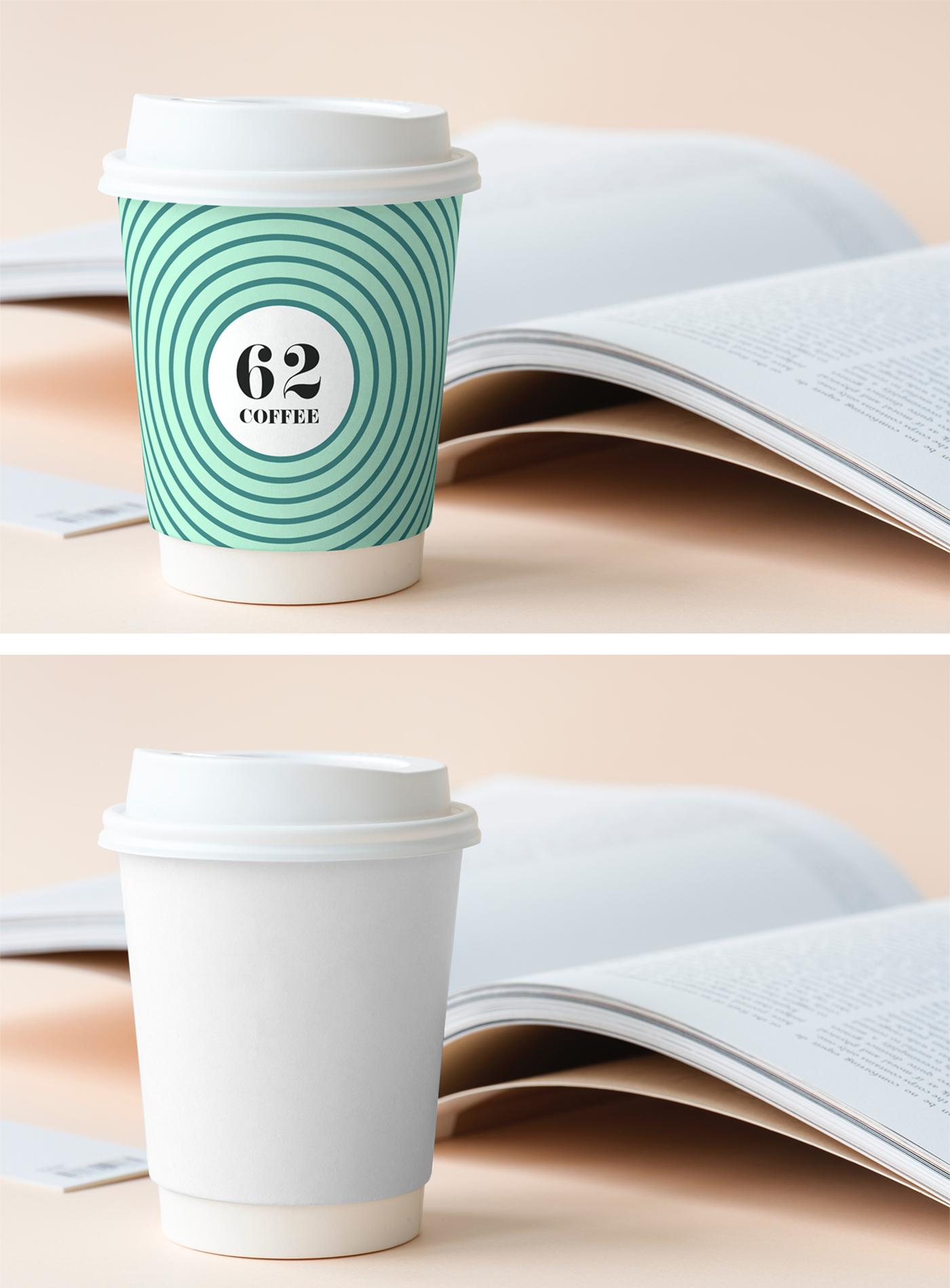 Cup on Desk Mockup