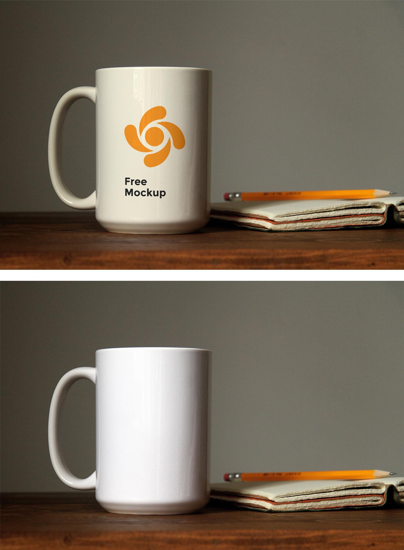 Mug Mockup on Table