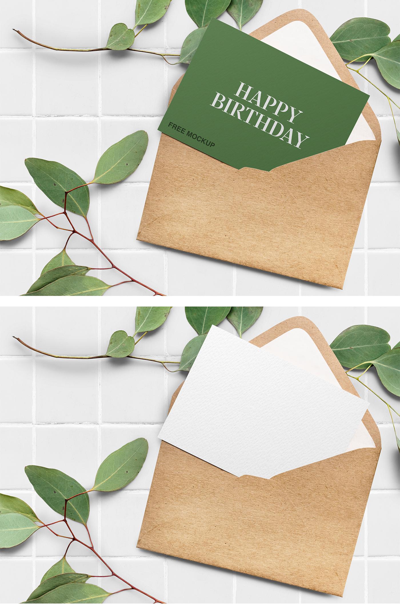 Elegant Greeting Card Mockup
