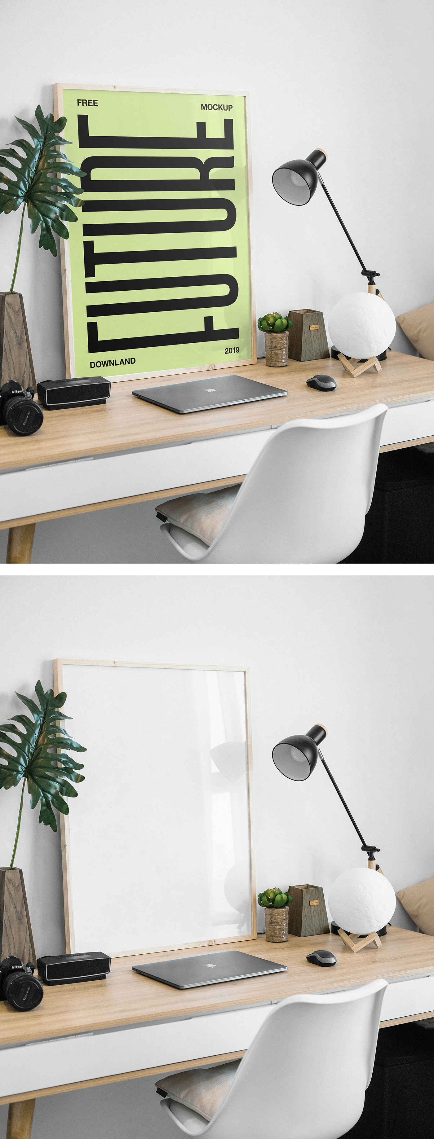 Picture Frame on Desk Mockup