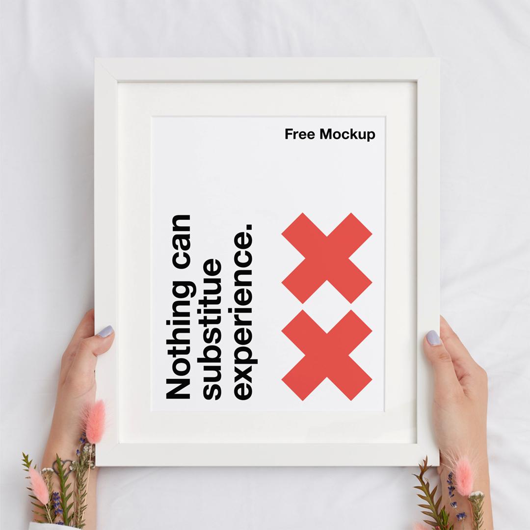 Frame Poster Mockup Mr Mockup Graphic Design Freebies