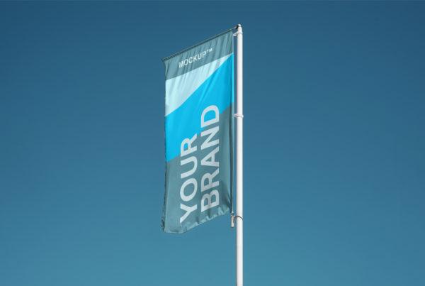 Flag PSD Mockup