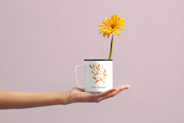 Flower Cup Mockup