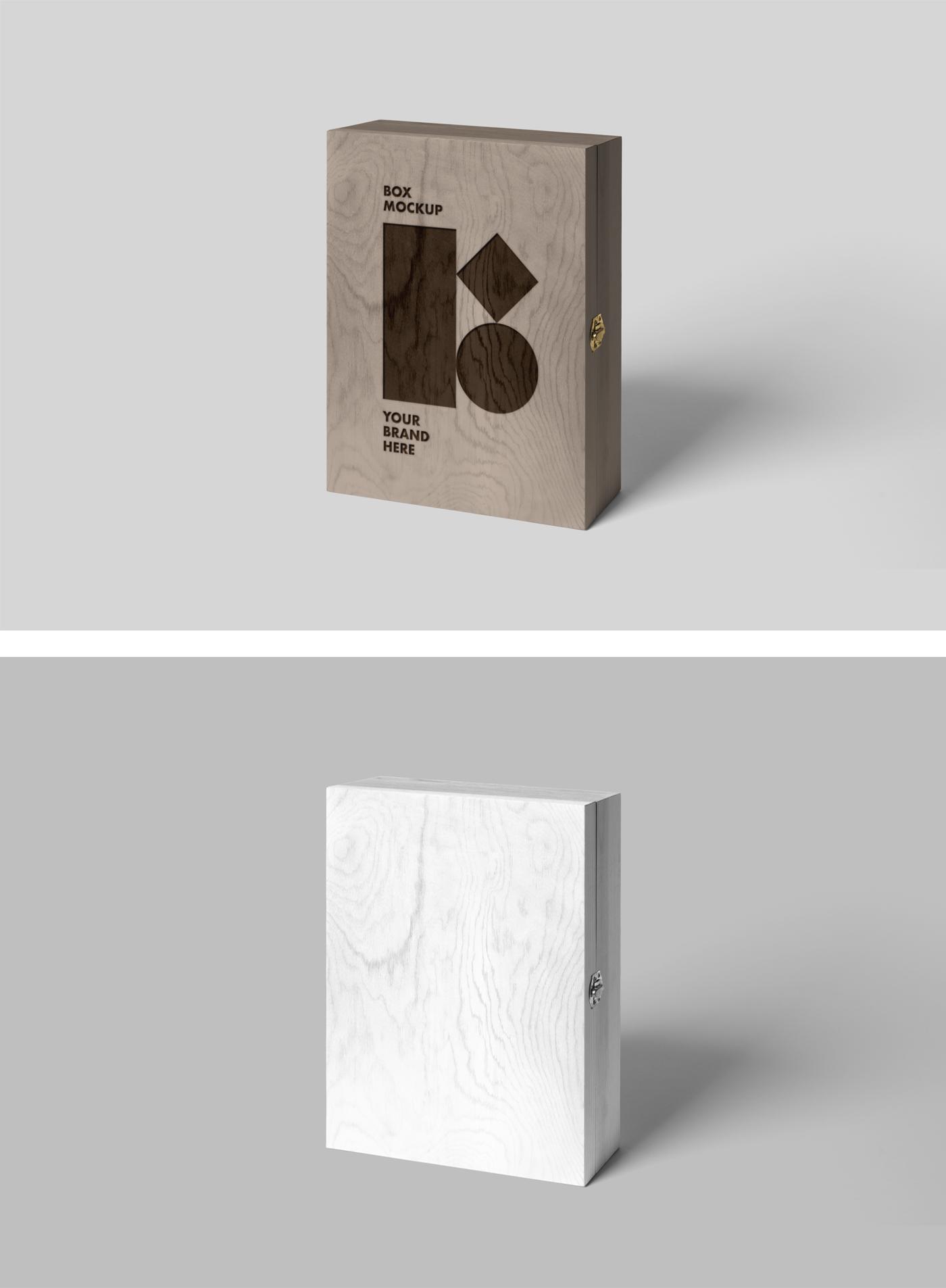 Wood Box Mockup