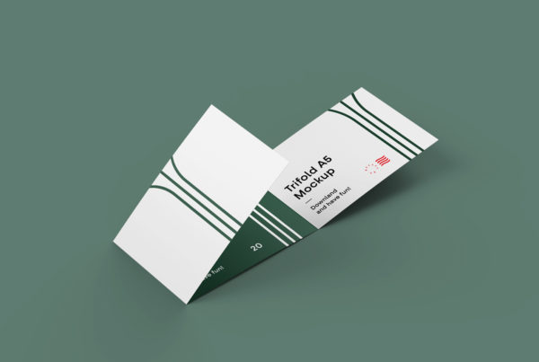3-Fold Brochure Mockup