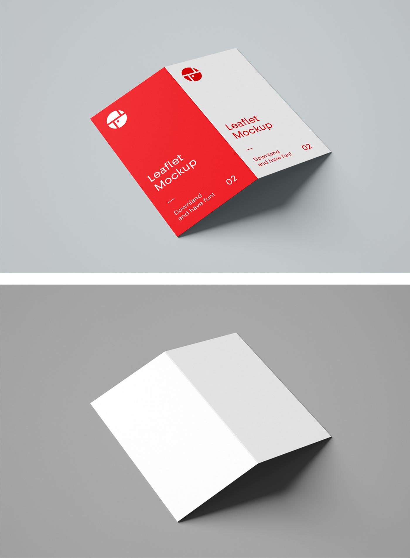 2-Fold Brochure PSD Mockup