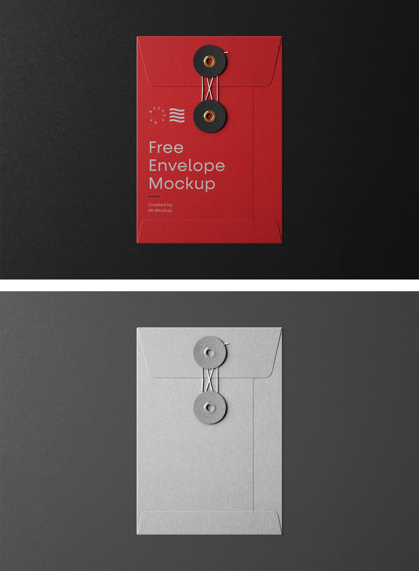 Small String Envelope Mockup
