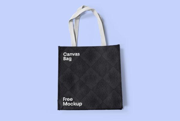 Canvas Bag PSD Mockup