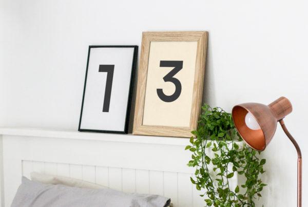 Frames in Bedroom Mockup