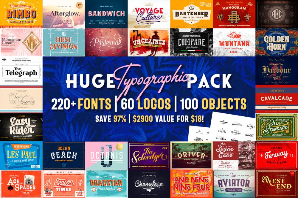 Huge Typographic Pack