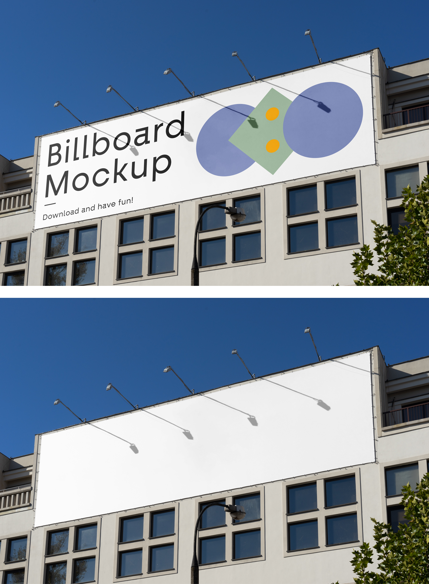Billboard one the Building Mockup