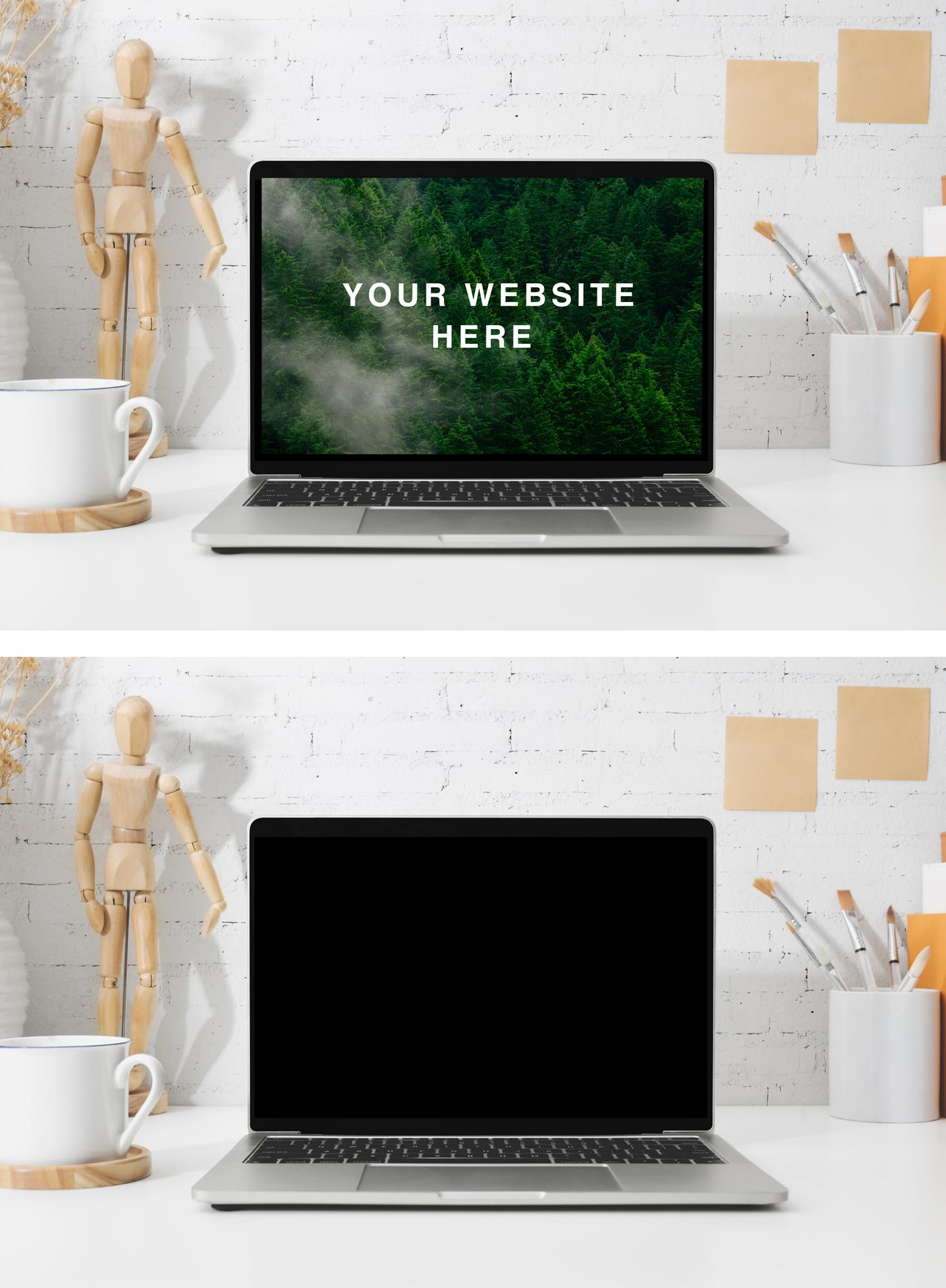 Retina MacBook Workspace Mockup