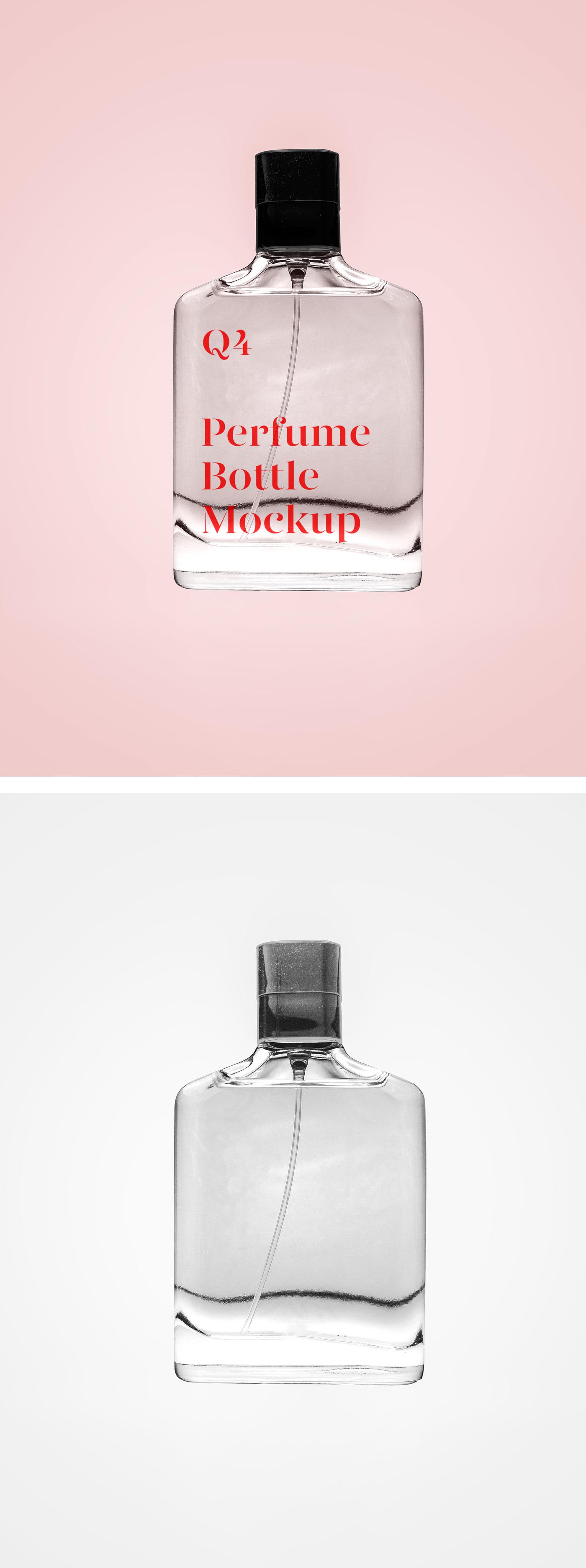 Transparent Perfume Mockup