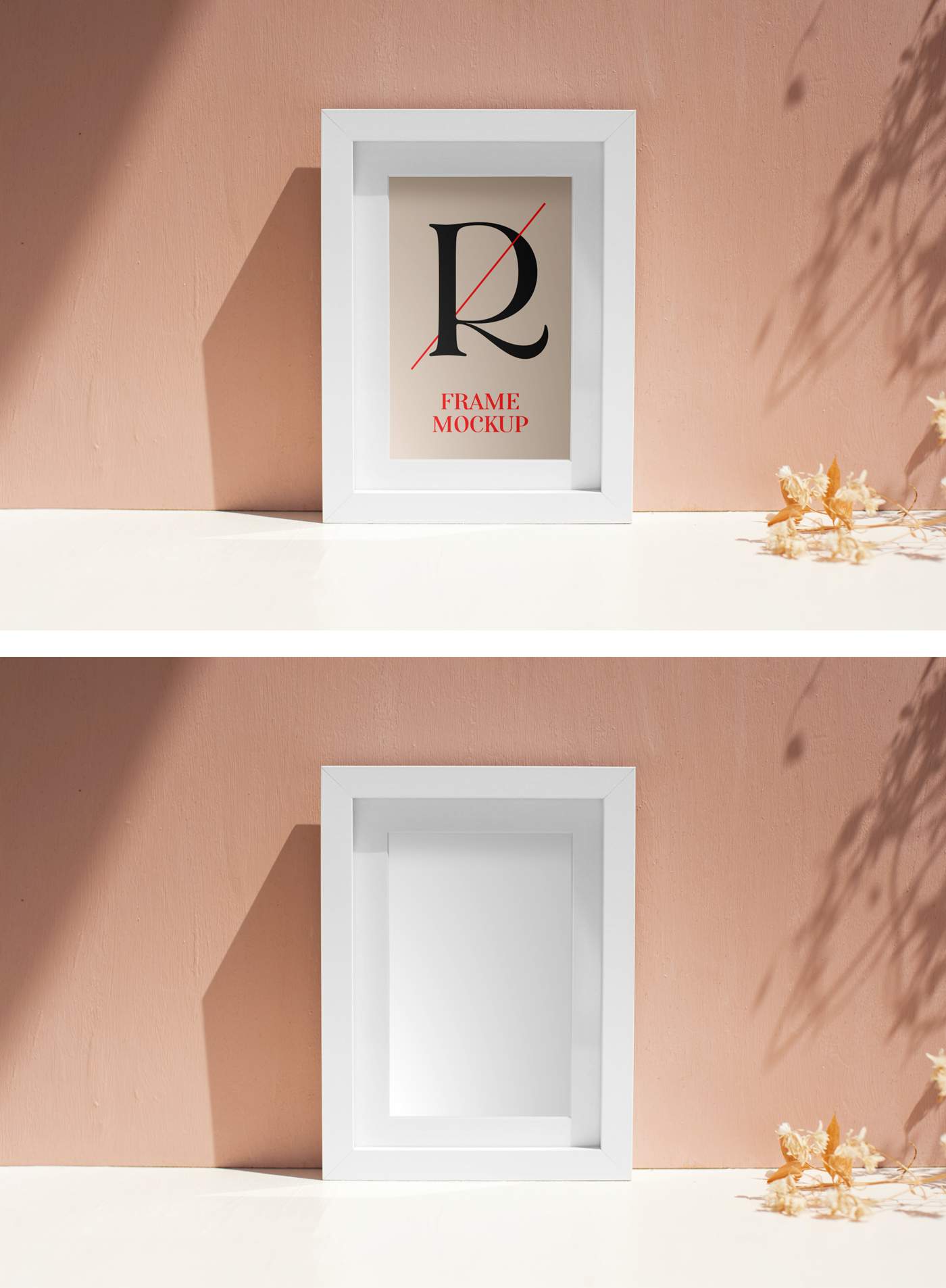White Frame PSD Mockup