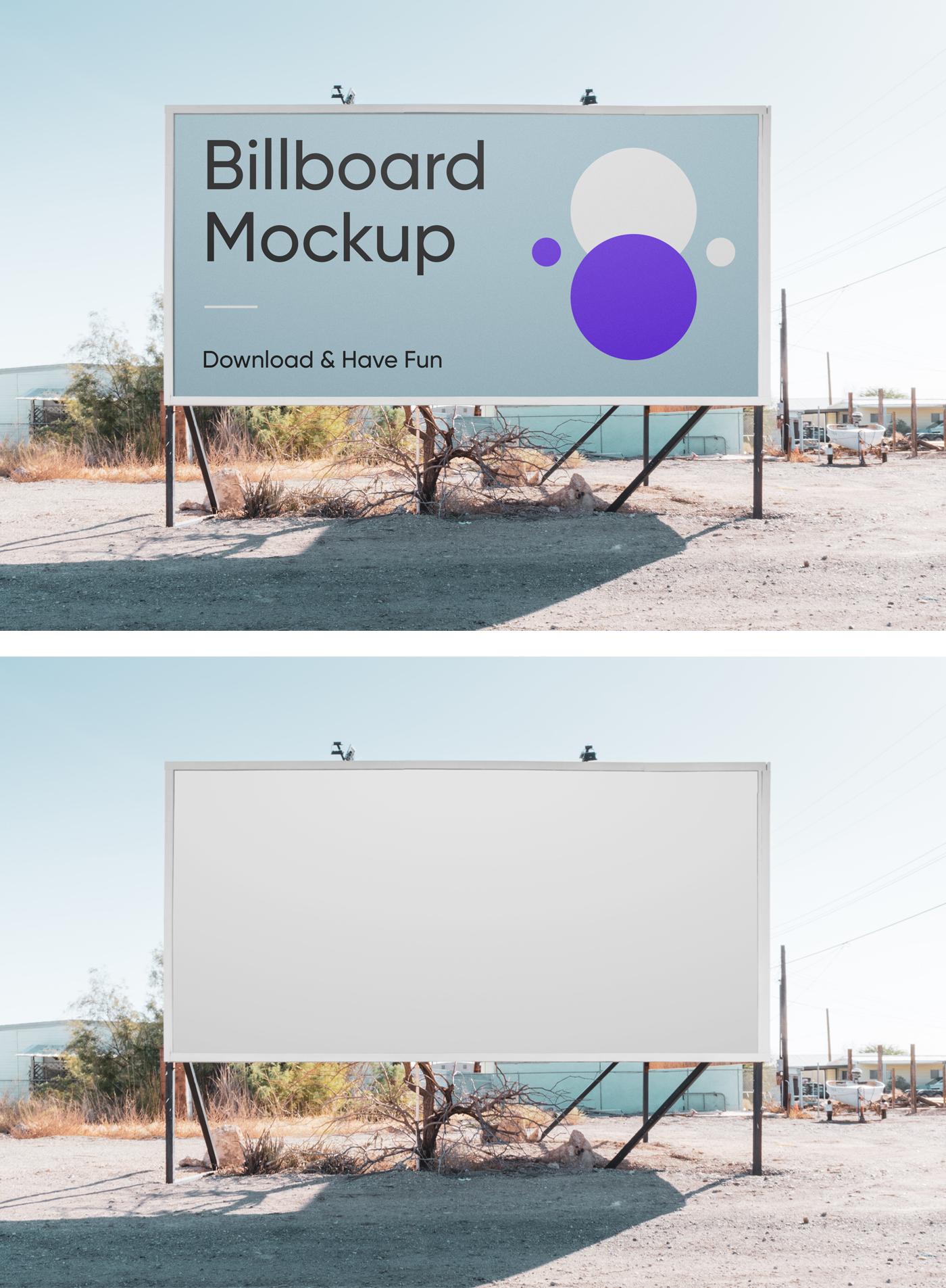 Horizontal Billboard PSD Mockup