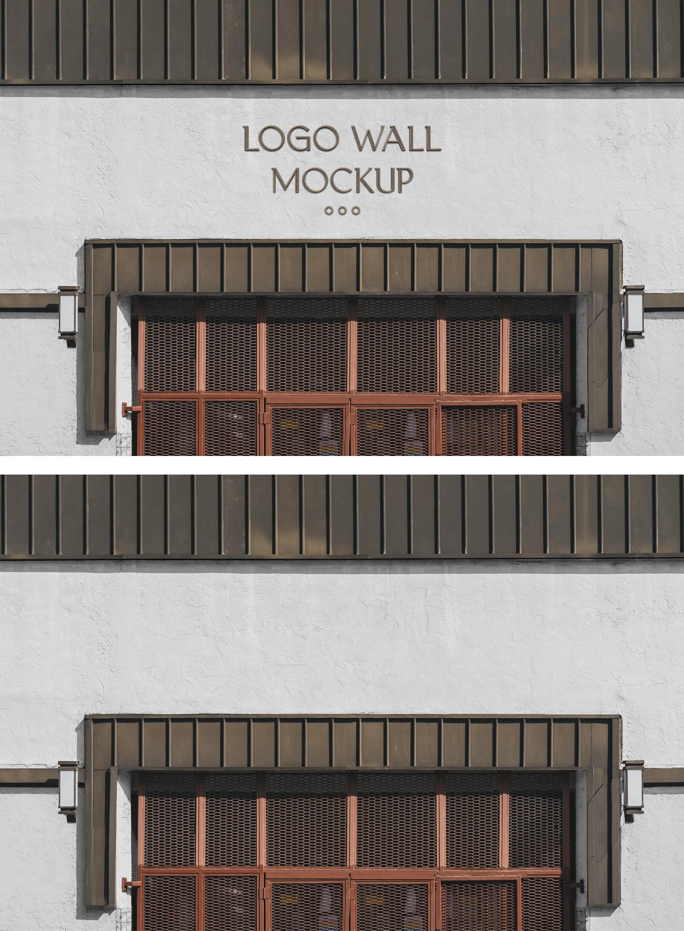 标志墙模型
