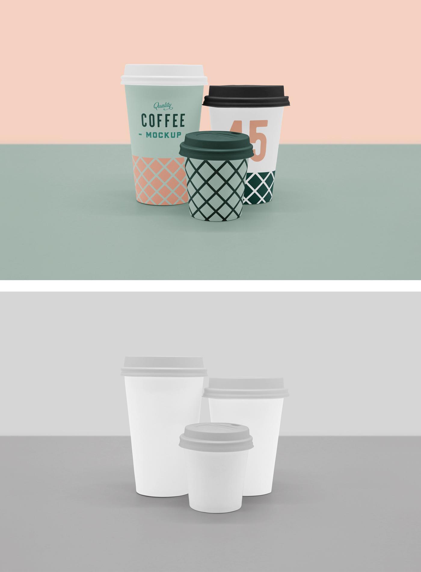 现场咖啡杯样机