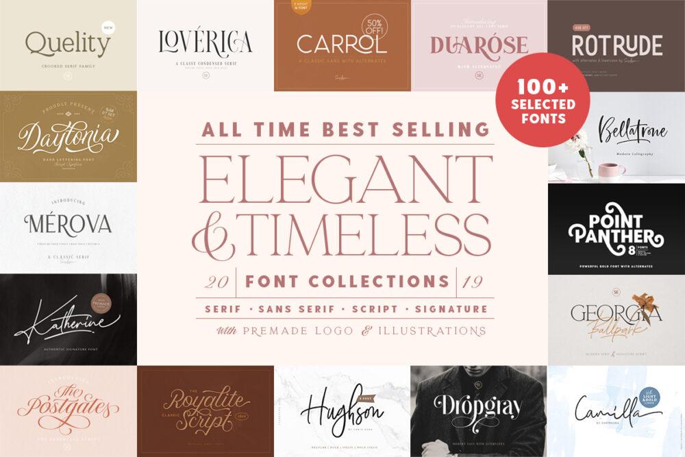 Elegant & Timeless Font Bundle